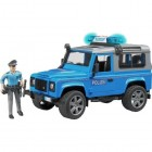 Land Rover Defender Station Wagon Police Car with Policeman and Equipment, Blue Bruder 02597