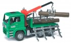 MAN Timber Truck with Loading Crane and 3 Trunks Bruder 02769